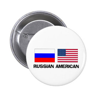 Americano ruso pin redondo de 2 pulgadas