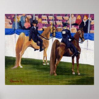 Americano Saddlebred en el retrato del caballo del Póster