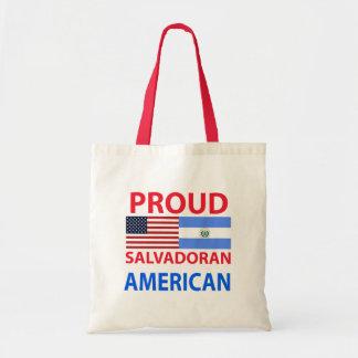 Americano salvadoreño orgulloso bolsa