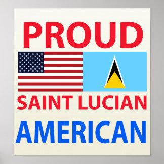 Americano santalucense orgulloso impresiones