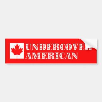 Americano secreto etiqueta de parachoque