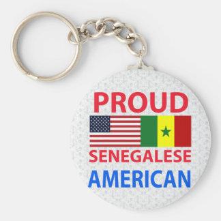 Americano senegalés orgulloso llaveros
