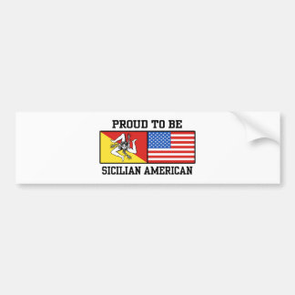Americano siciliano etiqueta de parachoque