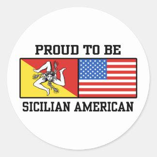 Americano siciliano pegatina redonda
