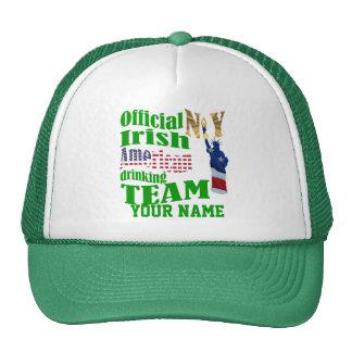 Americano St Patrick irlandés de Nueva York Gorros Bordados