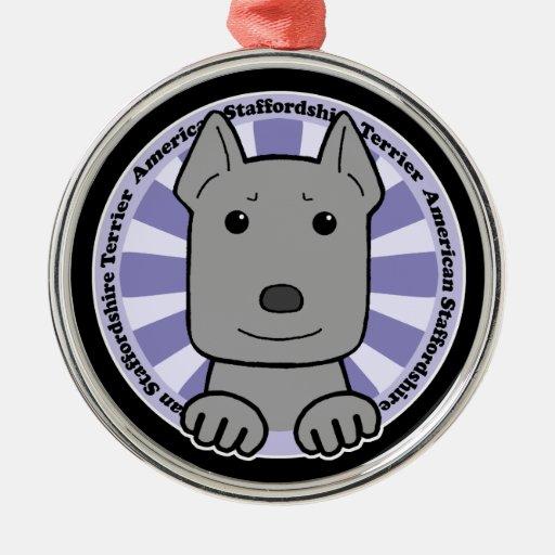 Americano Stafforshire Terrier Ornamento Para Reyes Magos