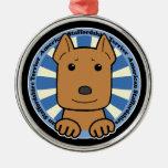 Americano Stafforshire Terrier Ornamento Para Arbol De Navidad