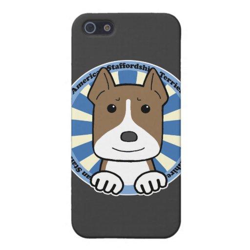 Americano Stafforshire Terrier iPhone 5 Carcasas