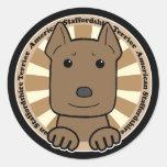 Americano Stafforshire Terrier Pegatina Redonda