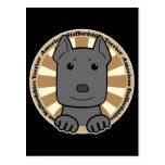 Americano Stafforshire Terrier Tarjeta Postal