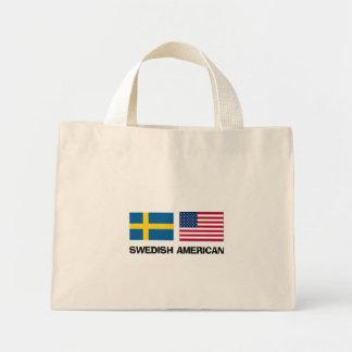 Americano sueco bolsa tela pequeña