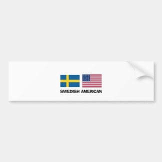 Americano sueco etiqueta de parachoque