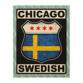Americano sueco de Chicago Impresiones En Madera