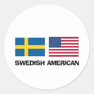 Americano sueco pegatina redonda