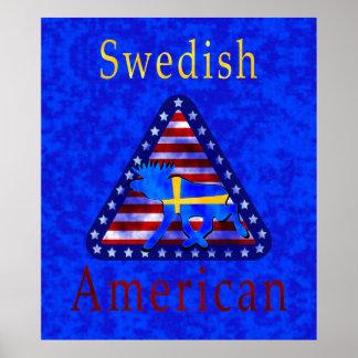 Americano sueco, poster