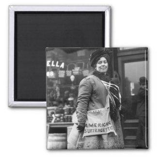Americano Suffragette, 1910 Imán Cuadrado