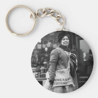 Americano Suffragette, 1910 Llavero Redondo Tipo Pin