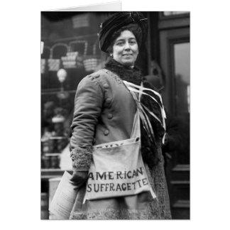 Americano Suffragette, 1910 Tarjeta De Felicitación