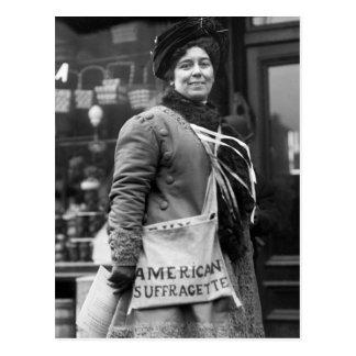 Americano Suffragette 1910 Tarjeta Postal