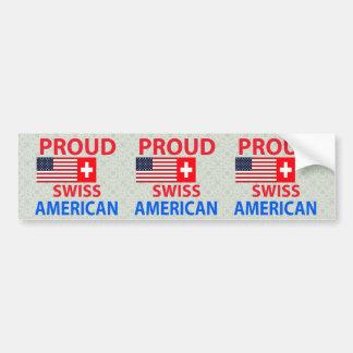 Americano suizo orgulloso pegatina para auto