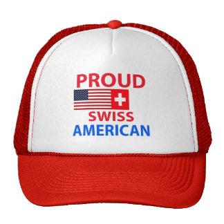 Americano suizo orgulloso gorras de camionero