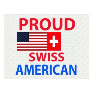 Americano suizo orgulloso postales