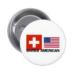 Americano suizo pin