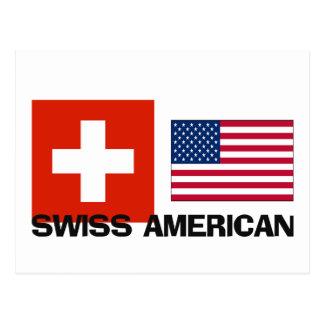 Americano suizo tarjetas postales