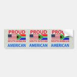 Americano surafricano orgulloso etiqueta de parachoque