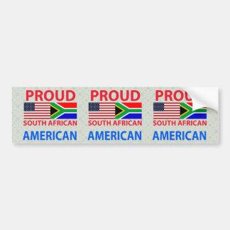 Americano surafricano orgulloso pegatina para auto