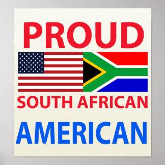 Americano surafricano orgulloso poster