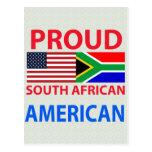 Americano surafricano orgulloso tarjeta postal