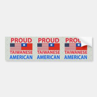 Americano taiwanés orgulloso etiqueta de parachoque