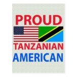 Americano tanzano orgulloso postales