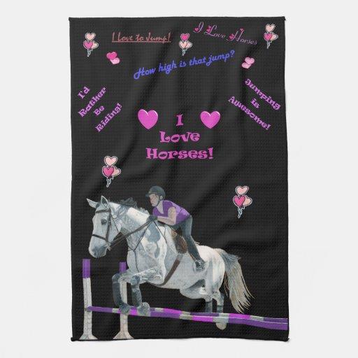 Americano temático rosado y púrpura adorable MoJo Toallas De Mano