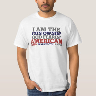 Americano temeroso de Dios de Ownin del arma Remeras