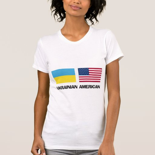 Americano ucraniano camiseta