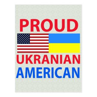 Americano ucraniano orgulloso postal
