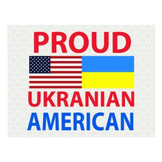 Americano ucraniano orgulloso tarjetas postales