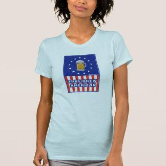 Americano verdadero del Brew Camisetas