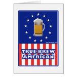 Americano verdadero del Brew Tarjeta