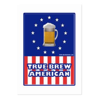 Americano verdadero del Brew Tarjeta De Negocio
