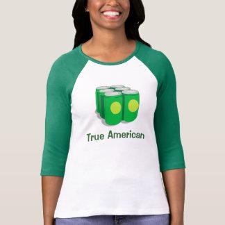 Americano verdadero camisetas