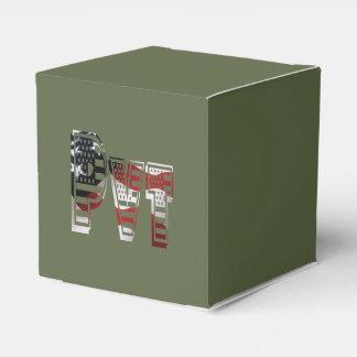 Americano verde militar Pvt de los E.E.U.U. Cajas Para Regalos De Boda