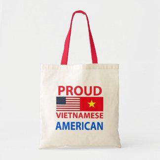 Americano vietnamita orgulloso bolsas