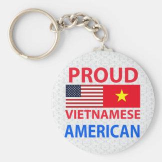 Americano vietnamita orgulloso llavero redondo tipo pin