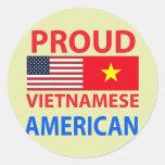 Americano vietnamita orgulloso pegatinas redondas