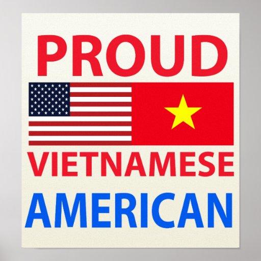 Americano vietnamita orgulloso poster