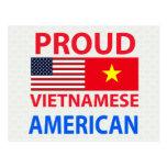 Americano vietnamita orgulloso tarjetas postales