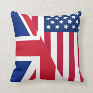 Americano y almohada de tiro de la bandera de